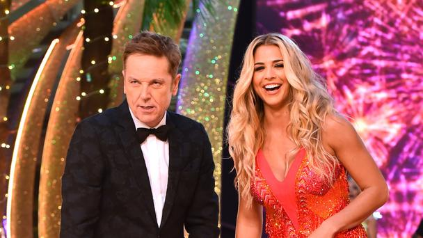 Brian Conley and Gemma Atkinson at the launch of Strictly Come Dancing 2017 at Broadcasting House in London (PA)