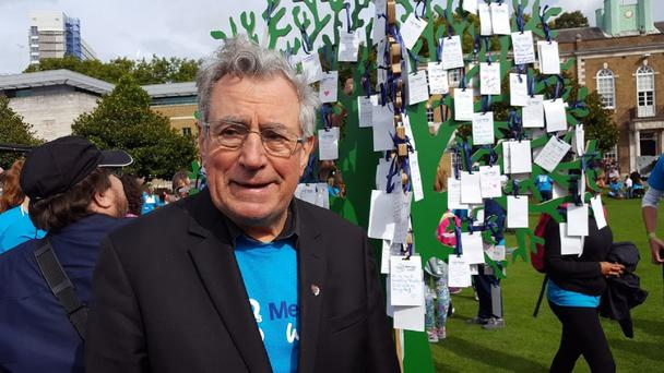Terry Jones on the memory walk