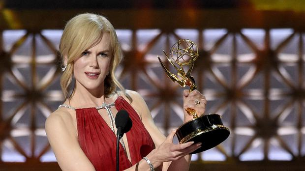 Nicole Kidman accepts the award for outstanding lead actress in a limited series or a movie for Big Little Lies
