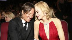 Keith Urban, and Nicole Kidman in the audience at the 69th Primetime Emmy Awards (John Salangsang/AP/Press Association Images)
