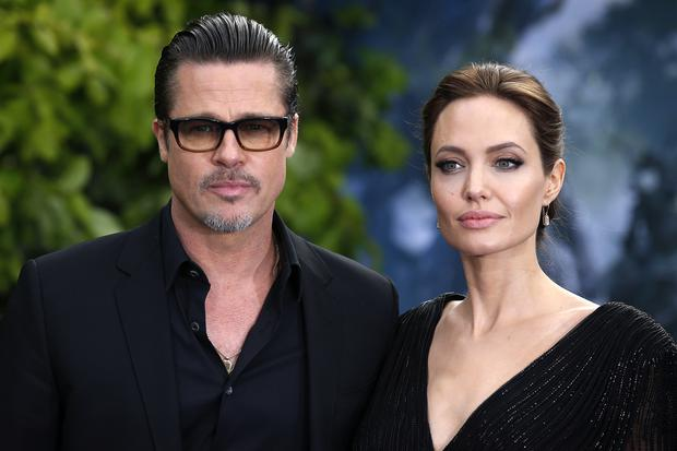 Brad Pitt and Angelina Jolie before the split (Justin Tallis/PA)