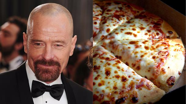 Bryan Cranston and some pizza