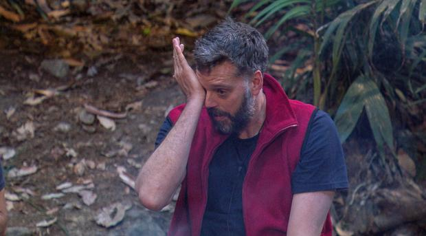 Iain in tears after his letter from home (REX/Shutterstock)Mandatory Credit: Photo by REX/Shutterstock (9262761dg) Outback Shack and Return - Iain Lee 'I'm a Celebrity... Get Me Out of Here!' TV Show, Series 17, Australia - 06 Dec 2017