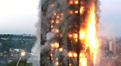 "June 14, 2017: A massive fire engulfs a residential tower in west London overnight. The fire claimed the lives of 71 people, while survivors were the lucky ones who managed to navigate their way down smoke-filled stairwells. Children who survived the Grenfell Tower blaze urged viewers to ""love and cherish your family"" as they delivered this year's alternative Christmas message on December 25. Photo: PA"