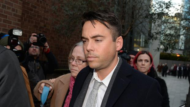 Ex-Coronation Street star Bruno Langley leaves Manchester Magistrates' Court (Peter Powell/PA)