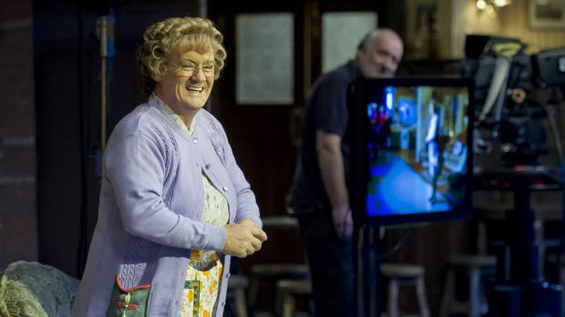 Mrs Brown's Boys creator Brendan O'Carroll in character (BBC)