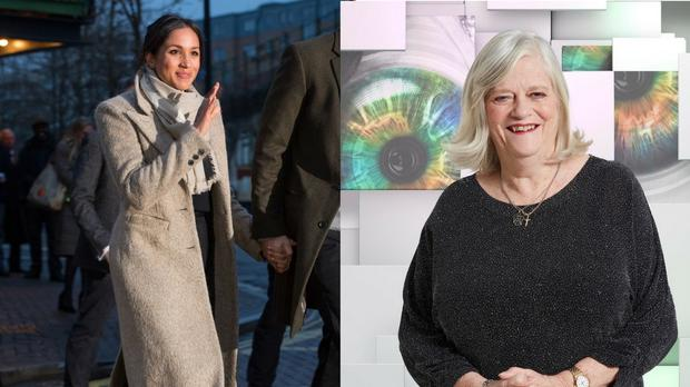 Anne Widdecombe (right) branded future royal bride Meghan Markle (left) as