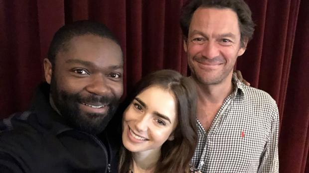 David Oyelowo, Dominic West and Lily Collins are to appear in Les Miserables (David Oyelowo/BBC/Lookout Point)