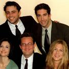 Five members of the TV show Friends