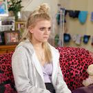 Lucy Fallon is seen as Bethany, looking upset in scenes in the soap