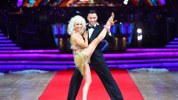 Debbie McGee at the Strictly live tour launch