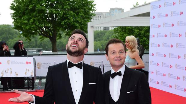 Ant McPartlin and Declan Donnelly arriving for the Virgin TV British Academy Television Awards (Ian West/PA)