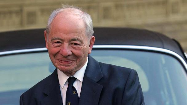 Colin Dexter, pictured with Inspectors Morse's Jaguar