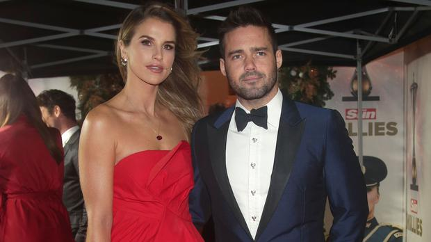 Spencer Matthews and Vogue Williams (Yui Mok/PA)