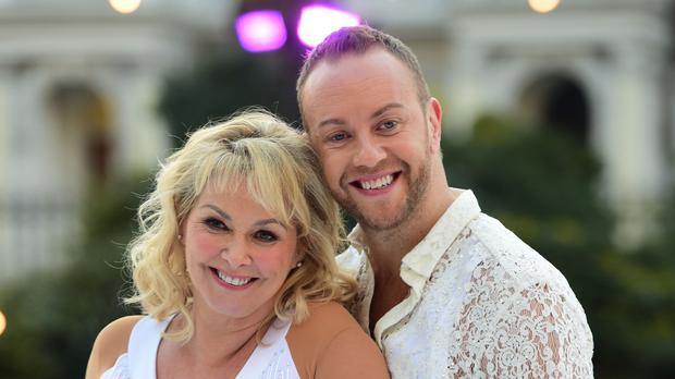 Cheryl Baker with her skate partner Dan Whiston (David Mirzoeff/PA)