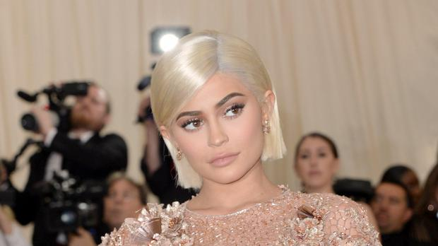 Kylie Jenner gave birth to a daughter on April 1 (Aurore Marechal/PA)