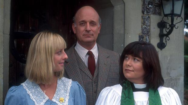 Emma Chambers, left, and Dawn French in The Vicar Of Dibley (BBC/PA)