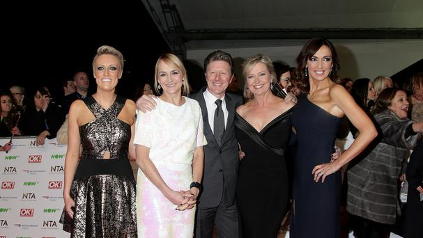 Steph McGovern, left, with some of her BBC Breakfast colleagues (Yui Mok/PA)