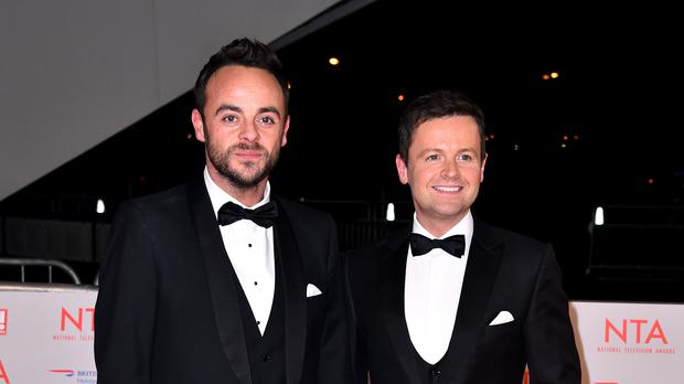 Anthony 'Ant' McPartlin and Declan 'Dec' Donnelly