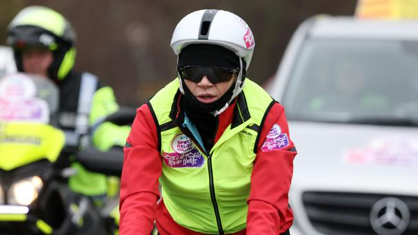 Zoe Ball is cycling 300 miles for Sport Relief (Sport Relief/PA)