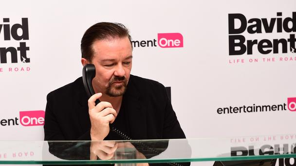 Ricky Gervais is no fan of the US president