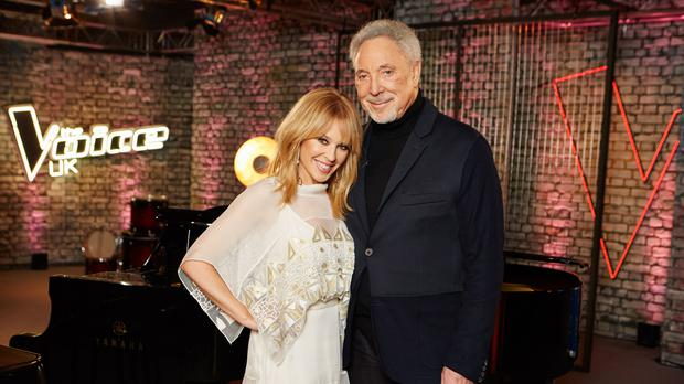 Kylie and Sir Tom (Rachel Joseph/ITV)