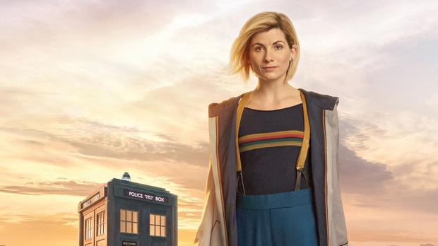 Jodie Whittaker in full costume as the Doctor (Steve Schofield/BBC)