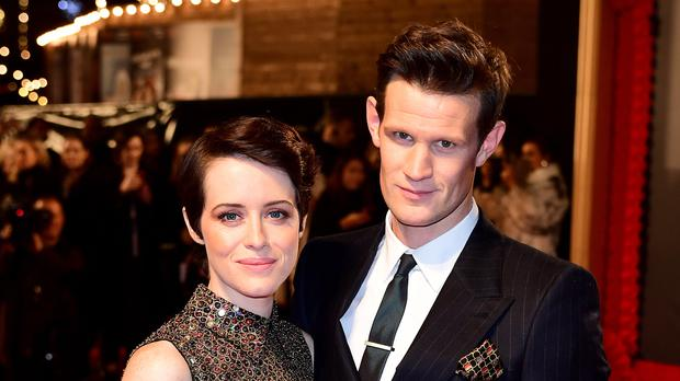 Claire Foy (left) and Matt Smith attending the season two premiere of The Crown at the Odeon, Leicester Square, London (Ian West/PA)