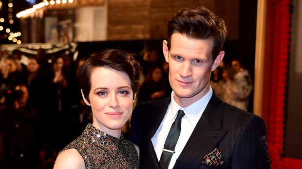 The Crown's Claire Foy and Matt Smith (Ian West/PA)