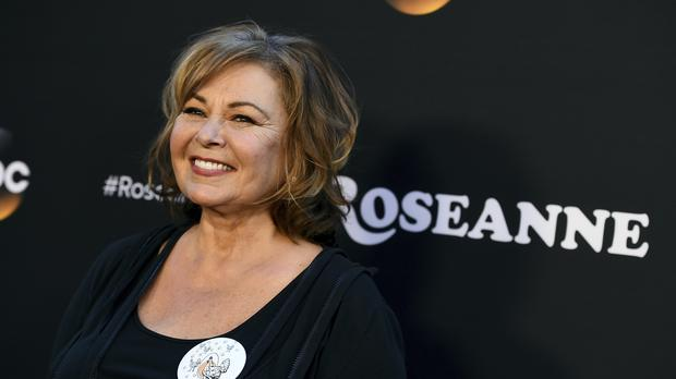 Roseanne Barr arrives at the Los Angeles premiere of Roseanne in Burbank, California (Jordan Strauss/Invision/AP)