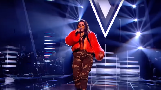 The singer fears she will be 'fed to the lions' during this weekend's semi-final (The Voice/ITV)