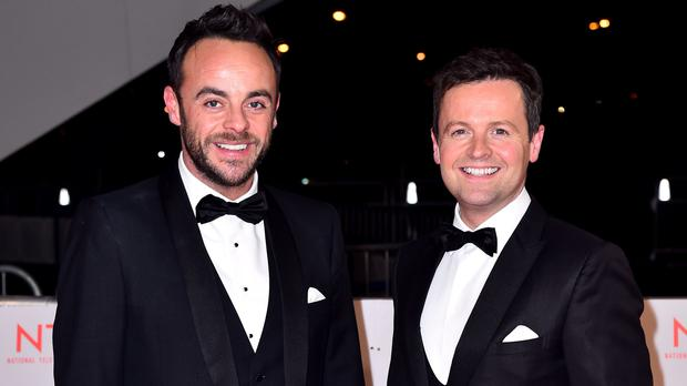Ant McPartlin, left, has stepped back from his TV commitments and returned to rehab (Matt Crossick/PA)