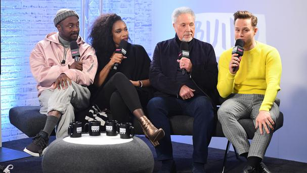 The Voice UK coaches will.i.am, Jennifer Hudson, Sir Tom Jones and Olly Murs (Ian West/PA)