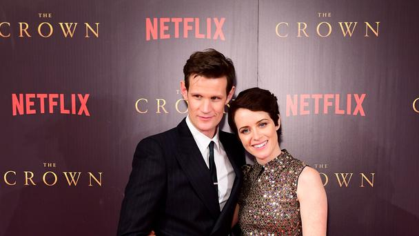 The Crown stars Matt Smith and Claire Foy (Ian West/PA)