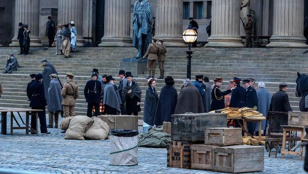 Edwardian makeover for Liverpool during War Of The Worlds filming (Peter Byrne/PA)