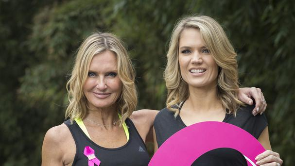 Sky News presenter Jacquie Beltrao and Good Morning Britain's Charlotte Hawkins are encouraging people to get together and join Breast Cancer Care's Pink Ribbon Walk (John Phillips/Getty Images for Breast Cancer Care)