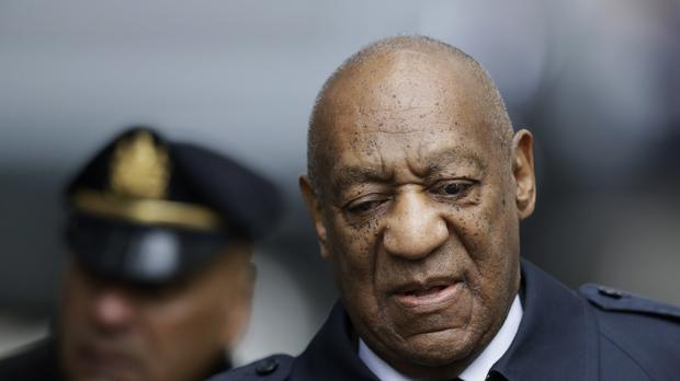 Bill Cosby arrives at court on the day the jury started deliberating (AP)