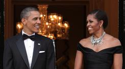 Barack and Michelle Obama (PA)