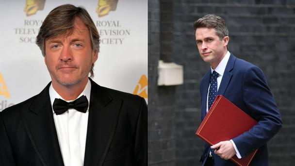 "GMB host Richard Madeley (left) said he was ""not sorry"" he cut short an interview after Defence Secretary Gavin Williamson (right) dodged a question four times (Victoria Jones, Dominic Lipinski/PA)"