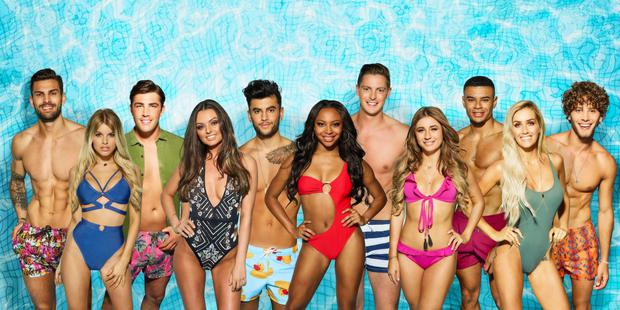 Young love: From left, Adam Collard, Hayley Hughes, Jack Fincham, Kendall Rae-Knight, Niall Aslam, Samira Mighty, Dr Alex George, Dani Dyer, Wes Nelson, Laura Anderson and Eyal Booker. Photo: ITV/REX/Shutterstock