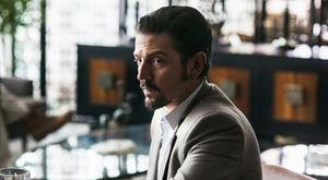 Diego Luna has plans to create the world's first drug-smuggling conglomerate in Narcos: Mexico. Photo: Carlos Somonte/Netflix