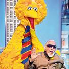 Man behind the mask: Caroll Spinney pictured last month with his famous character Big Bird