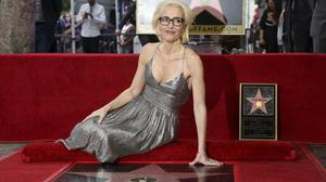 Gillian Anderson was honoured on the Hollywood Walk of Fame