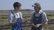 Reality check: Donal Skehan with oyster producer Steve Cullen for his new cookery show