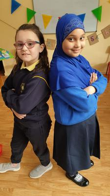 Enthusiastic: Ciara O'Shea and Mahek Hussain from  Presentation primary school in Tralee, Co Kerry in RTÉ's Creative Kids