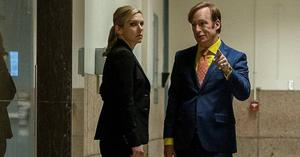 Heading for the darkside: Rhea Seehorn and Bob Odenkirk in  Better Call Saul