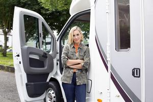 Roadshow: Kathryn  Thomas in the campervan  for RTÉ's No Place Like Home