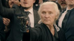 Olwen Fouéré portrays Violet Gibson, who came closer than any would-be assassin to killing Benito Mussolini in 1926