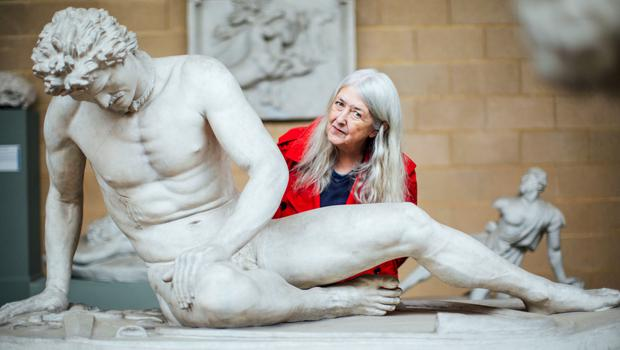 Bare art: Mary at the Museum of Classical Archaeology in Cambridge for Mary Beard's Shock of the Nude on BBC2. Photo by Polly Alderton