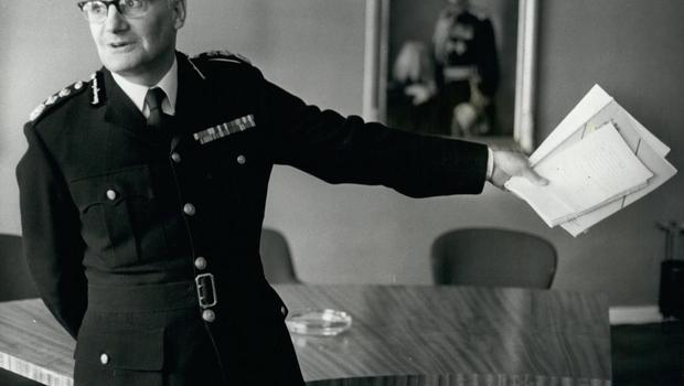Former Chief Constable of Leicester City Police, Sir Robert Mark, appears in 'Bent Coppers: Crossing the Line of Duty'. Photo: Alamy